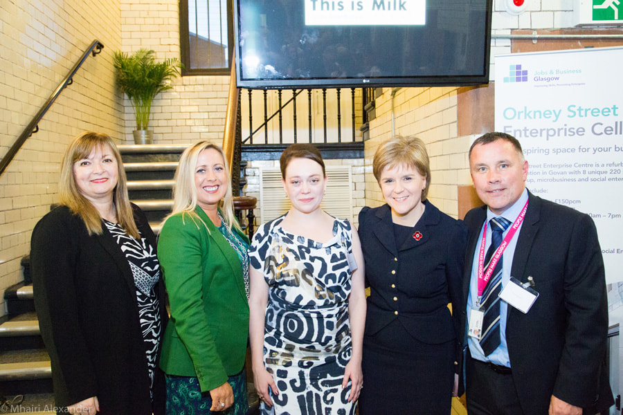 This is Milk launch with Nicola Sturgeon